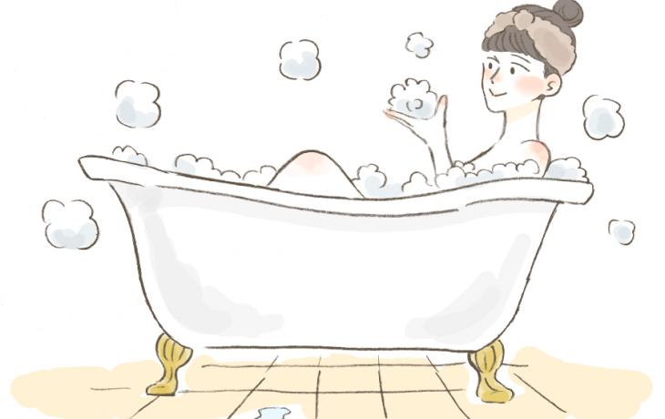 入浴温度と保湿の関係について